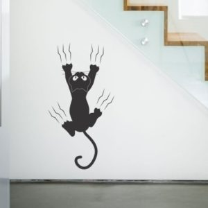 Adesivo Murale Gatto Arrampicatore