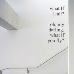 Adesivo Murale What If I Fall