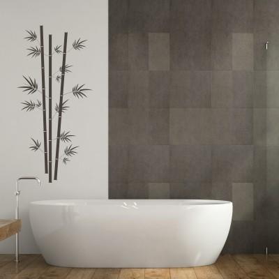 Adesivo Murale Bambù con Foglie