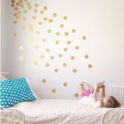 Adesivo Murale Stelle dorate