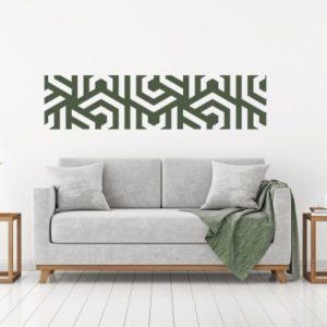 Adesivo Murale Cornice Labirinto