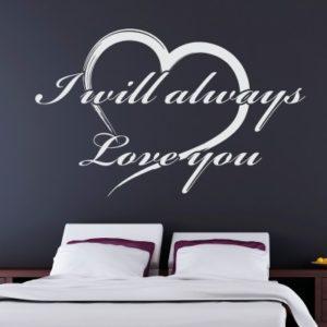 Adesivo Murale I Will Always Love You
