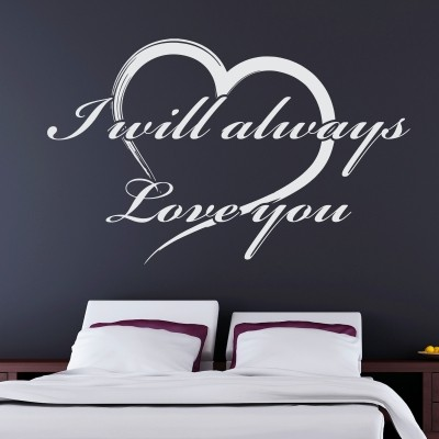 Adesivo Murale I Will Always Love You