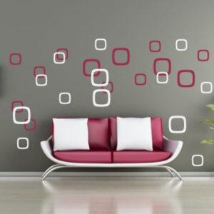 Adesivo Murale Fantasia di Quadrati