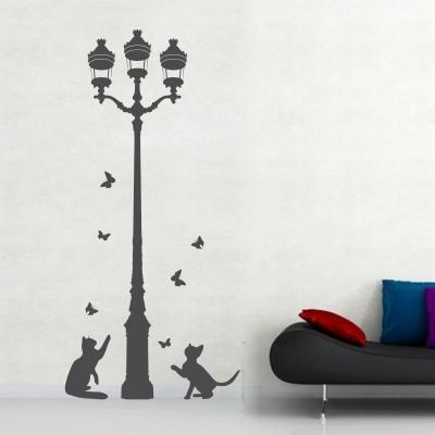 Adesivo Murale Gatti con Lampione