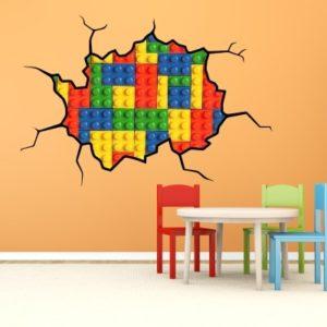 Adesivo Murale Cubi Costruzioni