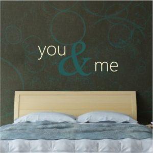 Adesivo Murale You & Me