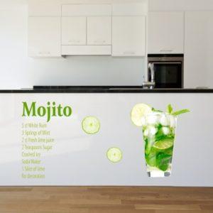 Adesivo Murale Mojito Ingredienti