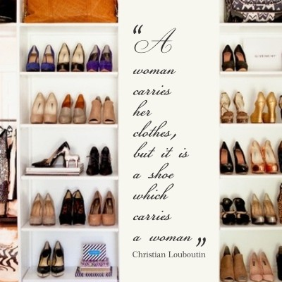 Adesivo Murale A Shoe Carries a Woman Christian Louboutin