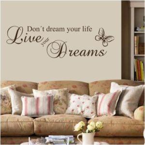 Adesivo Murale Live Your Dreams (2)