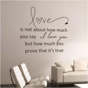 Adesivo Murale Love Prove