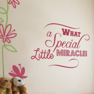 Adesivo Murale Little Miracle