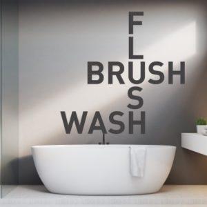 Adesivo Murale Flush Brush Wash