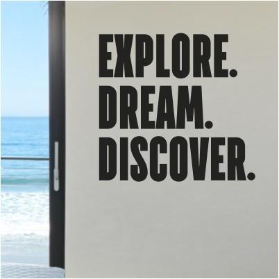 Adesivo Murale Explore. Dream. Discover