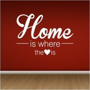 Adesivo Murale Home Is Where the Heart Is