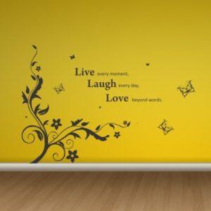 Adesivo Murale Live Laugh Love