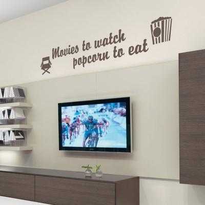 Adesivo Murale Movies Popcorn
