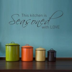 Adesivo Murale This Kitchen Is Seasoned With Love