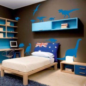 Adesivo Murale Dinosauri Blu