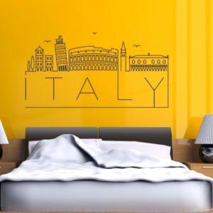 Adesivo murale Napoli Italia