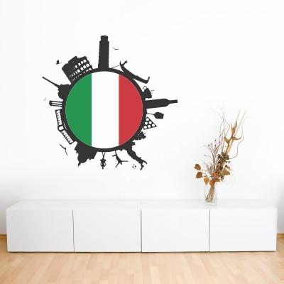 Adesivo murale Italia in Cerchio