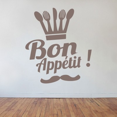 Adesivo murale Bon Appetit Chef