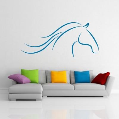 Adesivo murale Cavallo Stilizzato