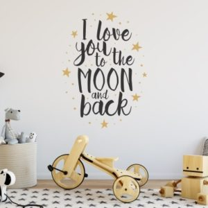 Adesivo murale I Love You to the Moon and Back