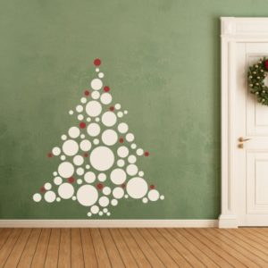 Adesivo murale Albero di Natale con Palline