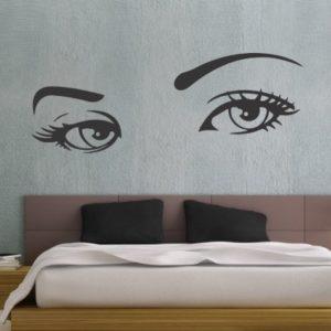 Adesivo murale Occhi di Donna