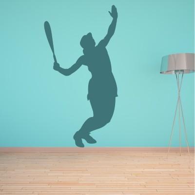 Adesivo murale Tennis Giocatrice