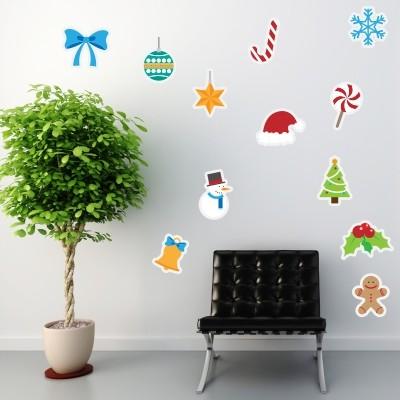 Adesivo Murale Addobbi di Natale