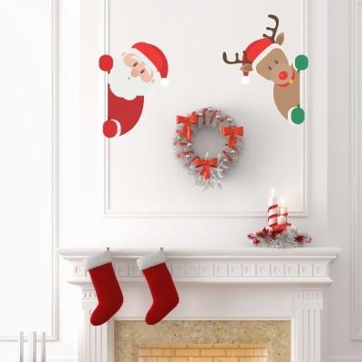 Adesivo Murale Babbo Natale e Rufus