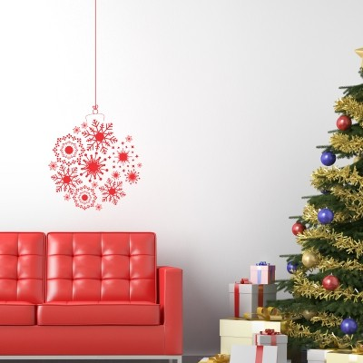 Adesivo Murale Pallina di Natale