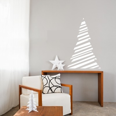 Adesivo Murale Albero di Natale Innevato