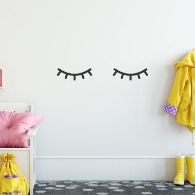 Adesivo Murale Occhi Pensierosi