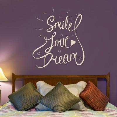 Adesivo Murale Smile Love Dream
