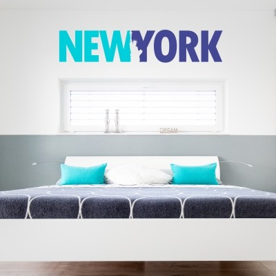 Adesivo Murale New York Due Colori