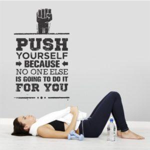 Adesivo Murale Push Yourself