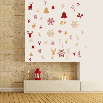 adesivo murale addobbi natalizi