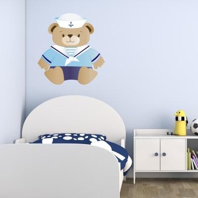 adesivo murale orsetto marinaio