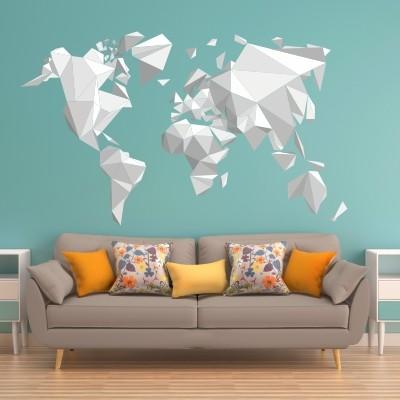 adesivo murale mappamondo mappa