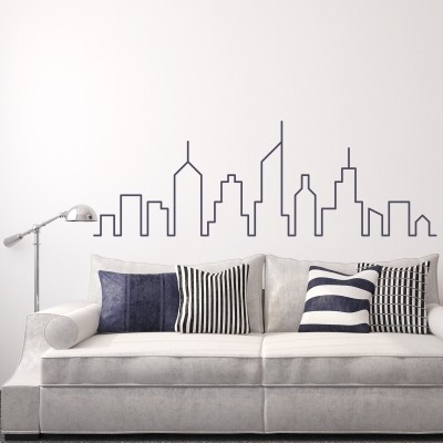 adesivo murale soggiorno salotto