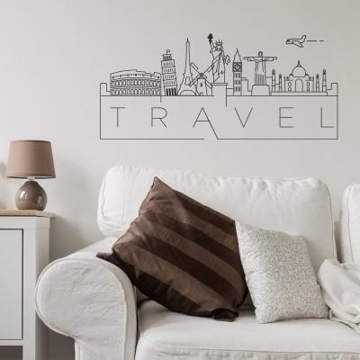 adesivo murale viaggi travel