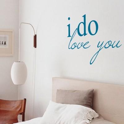 adesivo murale frase romantica