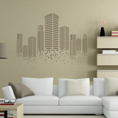 Wall Sticker Grattacieli Minimal