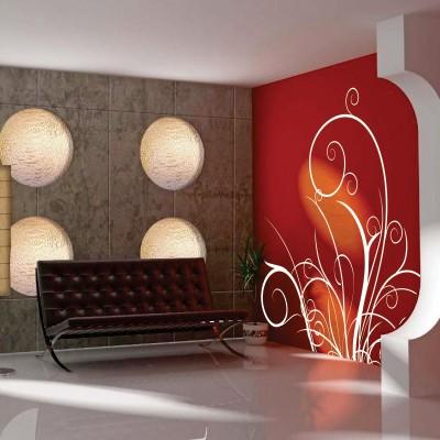 adesivo parete fiori
