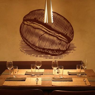 adesivo parete ristorante