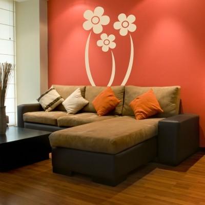 sticker parete fiori