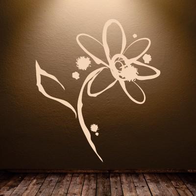 stickers parete fiore